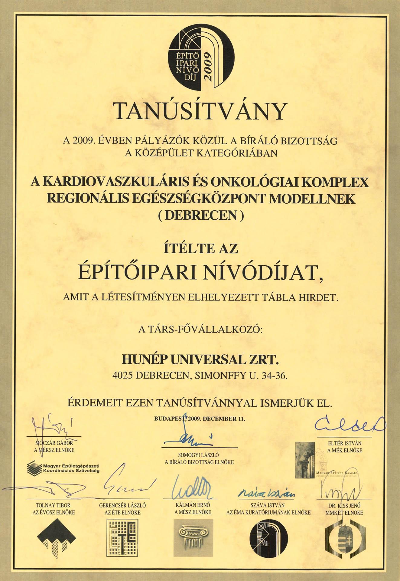 Auguszta nívódíj II.