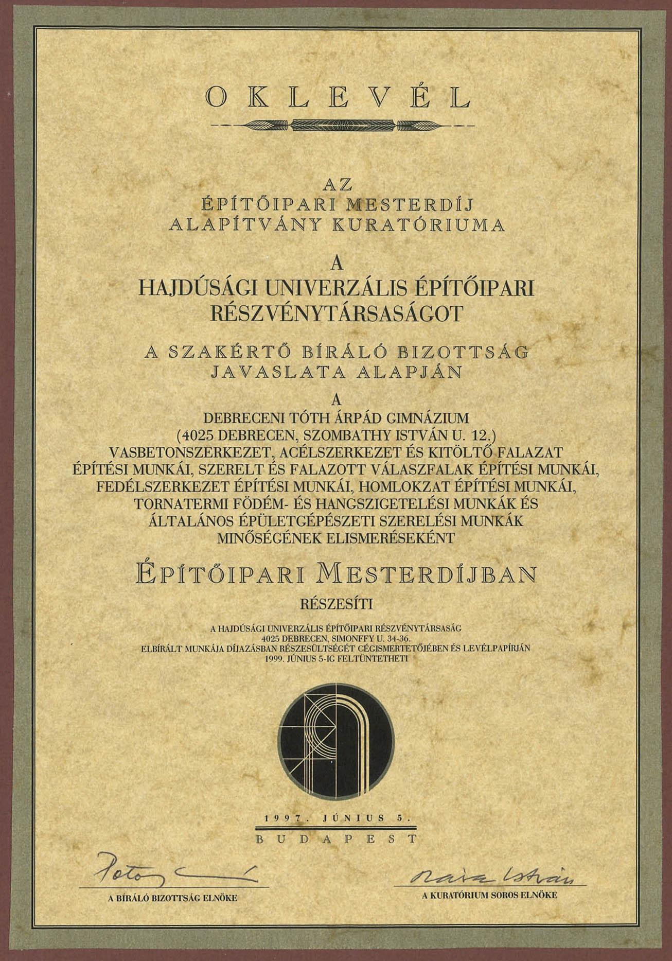Debreceni Tóth Árpád Gimnázium